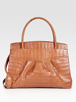 Nancy Gonzalez - Crocodile Ruched Tote