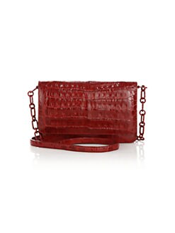 Nancy Gonzalez - Crocodile Flap Crossbody/Clutch