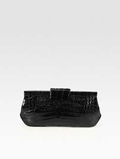 Nancy Gonzalez - Crocodile Frame Clutch