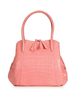 Nancy Gonzalez - Small Crocodile Skin Top Handle Bag