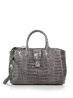 Nancy Gonzalez - Cristina Metallic Crocodile Satchel