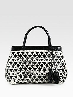 Nancy Gonzalez - Crocodile & Python Laser Cut Tote