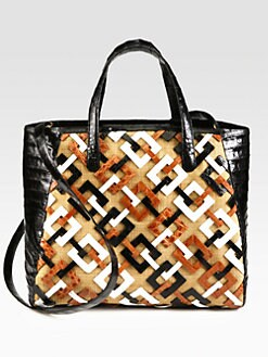 Nancy Gonzalez - Crocodile Tri-Tone Graphic Tote