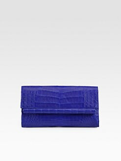 Nancy Gonzalez - Small Crocodile Bar-Flap Clutch