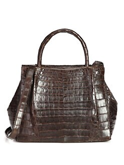 Nancy Gonzalez - Croc Top Handle Bag