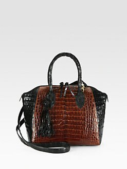 Nancy Gonzalez - Crocodile Colorblock Tassel Satchel