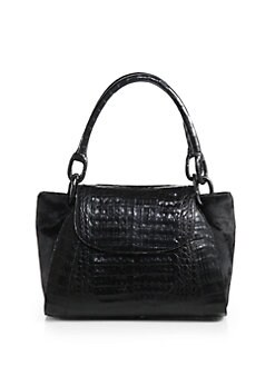 Nancy Gonzalez - Crocodile & Calf Hair Medium Satchel