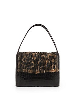 Nancy Gonzalez - Crocodile & Leopard Astrakhan Shoulder Bag