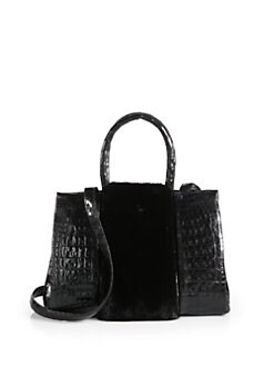 Nancy Gonzalez - Crocodile & Mink Medium Satchel