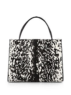 Nancy Gonzalez - Calf Hair & Crocodile Tote