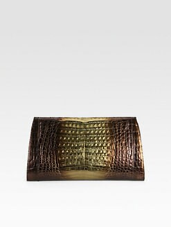 Nancy Gonzalez - Ombré Crocodile Clutch