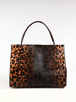 Nancy Gonzalez - Leopard-Print Haircalf Tote
