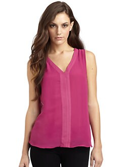 RED Saks Fifth Avenue - Open-Back Sleeveless Blouse