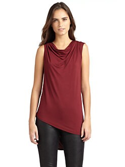 RED Saks Fifth Avenue - Open-Back Drapey Jersey Top