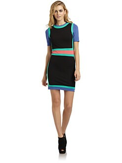 RED Saks Fifth Avenue - Colorblock Stretch-Jersey Dress