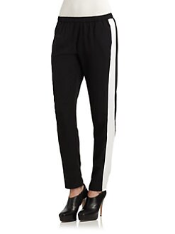 RED Saks Fifth Avenue - Tuxedo-Stripe Crepe Pants