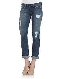 GRAY Saks Fifth Avenue - Distressed Boyfriend Jeans