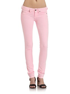 GRAY Saks Fifth Avenue - Pink Spring Street Skinny Jeans
