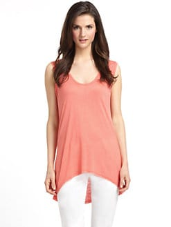 5/48 - Slub Knit Sleeveless Hi-Lo Tee
