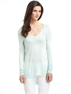 5/48 - Slub Knit Long Sleeve Hi-Lo Tee