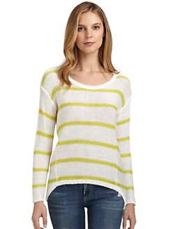 RD style - Knit Striped Hi-Lo Sweater