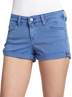 GRAY Saks Fifth Avenue - Roll-Cuff Mini Denim Shorts