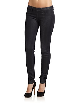 GRAY Saks Fifth Avenue - Snake-Print Skinny Jeans