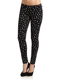 GRAY Saks Fifth Avenue - Soho Super Skinny Stars Jeans