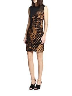 3.1 Phillip Lim - Felted Jacquard Pieced Dress