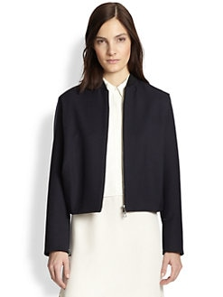 3.1 Phillip Lim - Wool Cropped Bomber Jacket