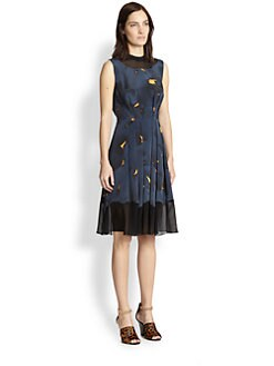 3.1 Phillip Lim - Silk Pleated Print Dress
