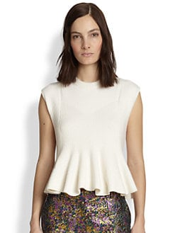 3.1 Phillip Lim - Ribbed Knit Peplum Sweater