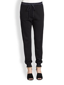 3.1 Phillip Lim - Satin-Trimmed Slim Sweatpants