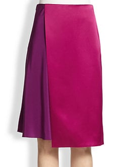 3.1 Phillip Lim - Silk Two-Tone Skirt
