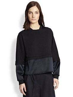 3.1 Phillip Lim - French Terry & Satin Sweatshirt