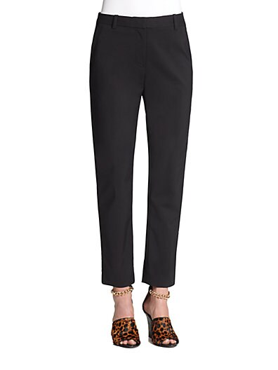 Core Cropped Pencil Trousers