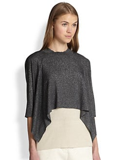 3.1 Phillip Lim - Silk-Blend Draped Double-Layer Top
