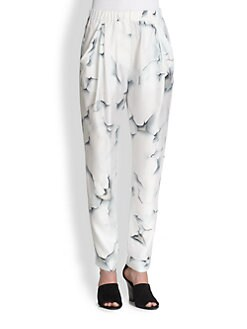 3.1 Phillip Lim - Silk Paint Peel-Print Pants