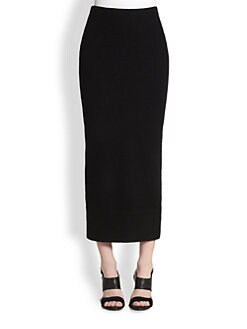 Acne Studios - Boiled Wool Zip-Back Column Skirt