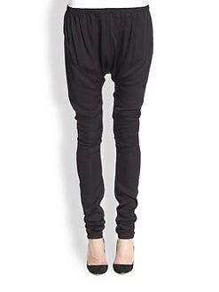 Acne Studios - Hit Silk Slouched Dropped-Rise Skinny Pants