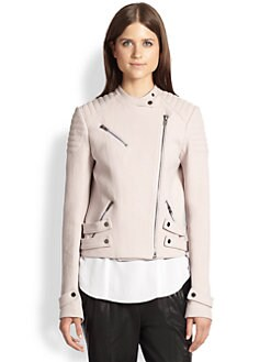 A.L.C. - Structured Cotton Crepe Biker Jacket