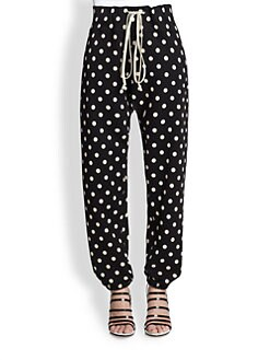 3.1 Phillip Lim - Polka Dot Cotton Sweatpants