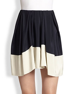 3.1 Phillip Lim - Silk Satin Colorblock Skirt