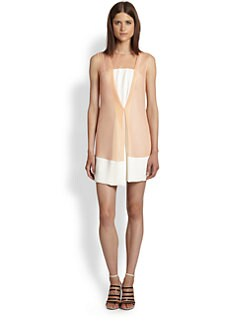 3.1 Phillip Lim - Two-Tone Front Overlay Dress