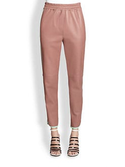 3.1 Phillip Lim - Neoprene-Piped Leather Track Pants