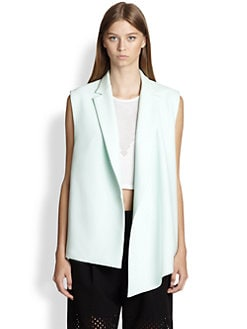 3.1 Phillip Lim - Asymmetrical Draped Crepe Vest