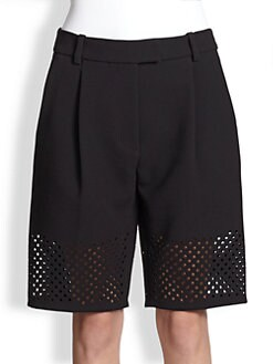 3.1 Phillip Lim - Perforated Crepe City Shorts