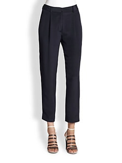 3.1 Phillip Lim - Silk Cropped Straight-Leg Pants