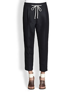 3.1 Phillip Lim - Cropped Silk & Cotton Polka Dot Pants