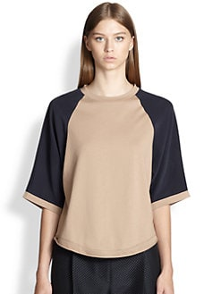 3.1 Phillip Lim - Silk Raglan-Sleeved Cotton Tee